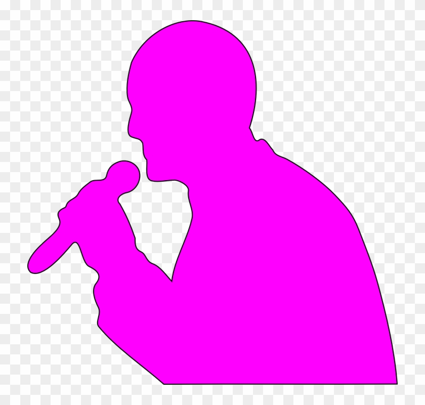 Man Addresssing Microphone Mic Cordless Pink - Microphone Clip Art - Png Download #4167305