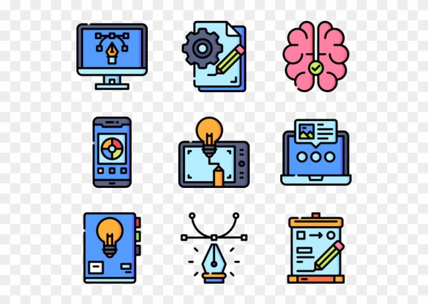 Design Thinking - Web Design Icons Clipart #4174269
