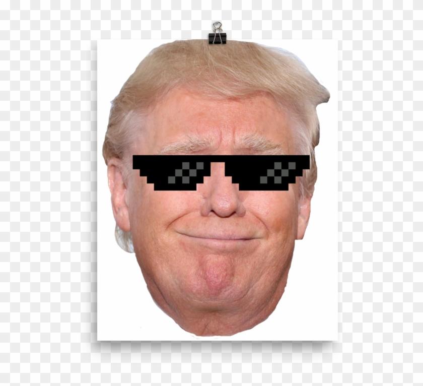 Trump Thug Life Wall Poster - Donald Trump Clipart #4176586
