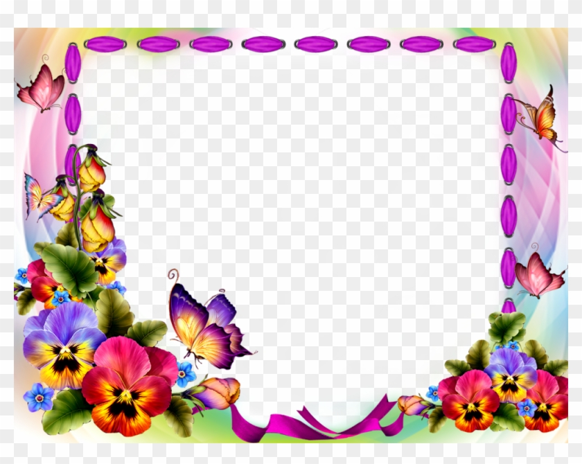 Download Red Flower Frame Transparent Background For Butterfly