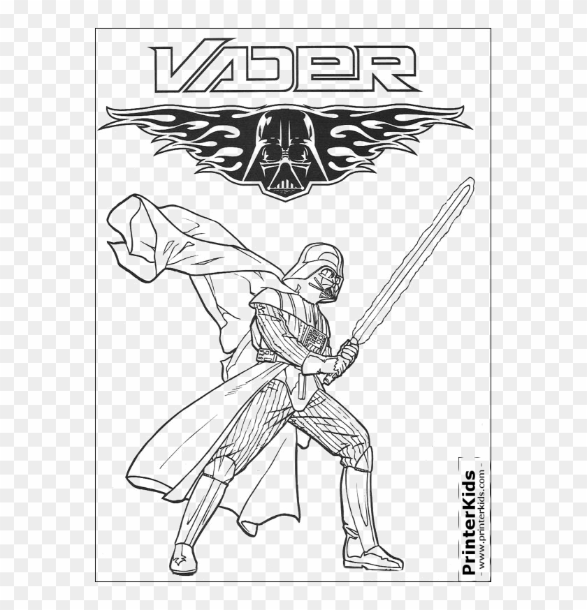 Coloring Page Preview - Star Wars Darth Vader Coloring Pages Clipart #4185420