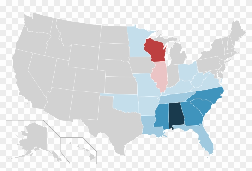 Piggly Wiggly Locations By Us State - You Guys Vs Yall Map Clipart #4186979