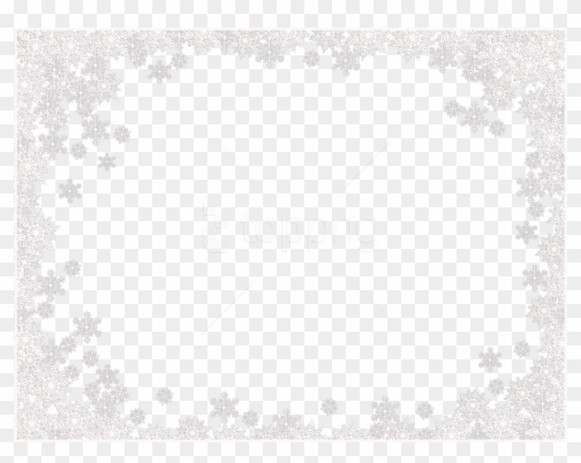 Free Png White Border Frame Png - White Snowflakes Frame Png Clipart #4193983