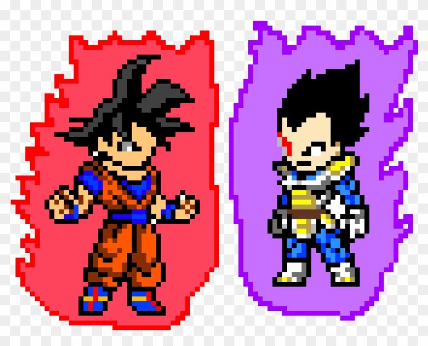 Dragon Ball Z - Goku Pixel Art Clipart #4194176