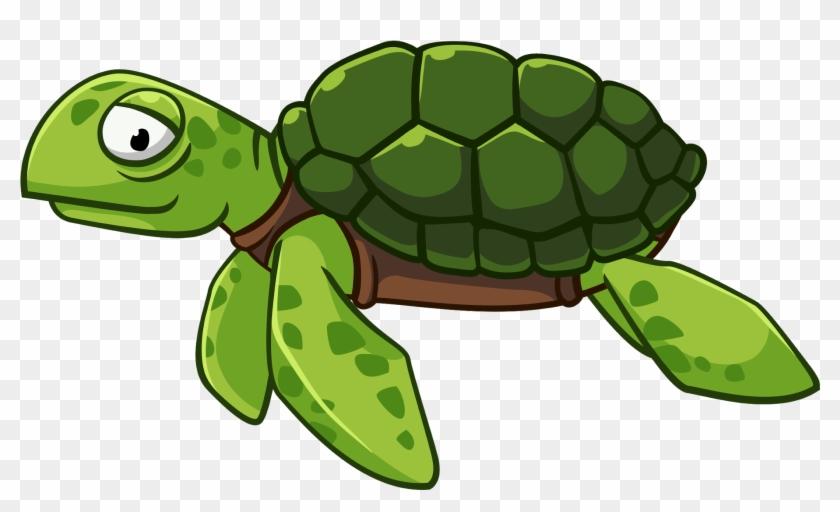 Eps Vector Funny Cartoons Green Turtle Animals نقاشی کودکانه