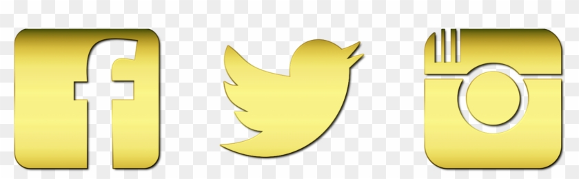 Clip Art Free Instagram Twitter Facebook Icons - Instagram Logo Gold Png  Transparent Png (#421210) - PikPng