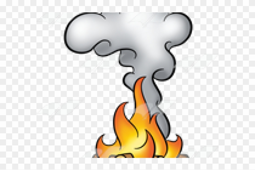 Original - Cartoon Fire And Smoke Clipart #423015
