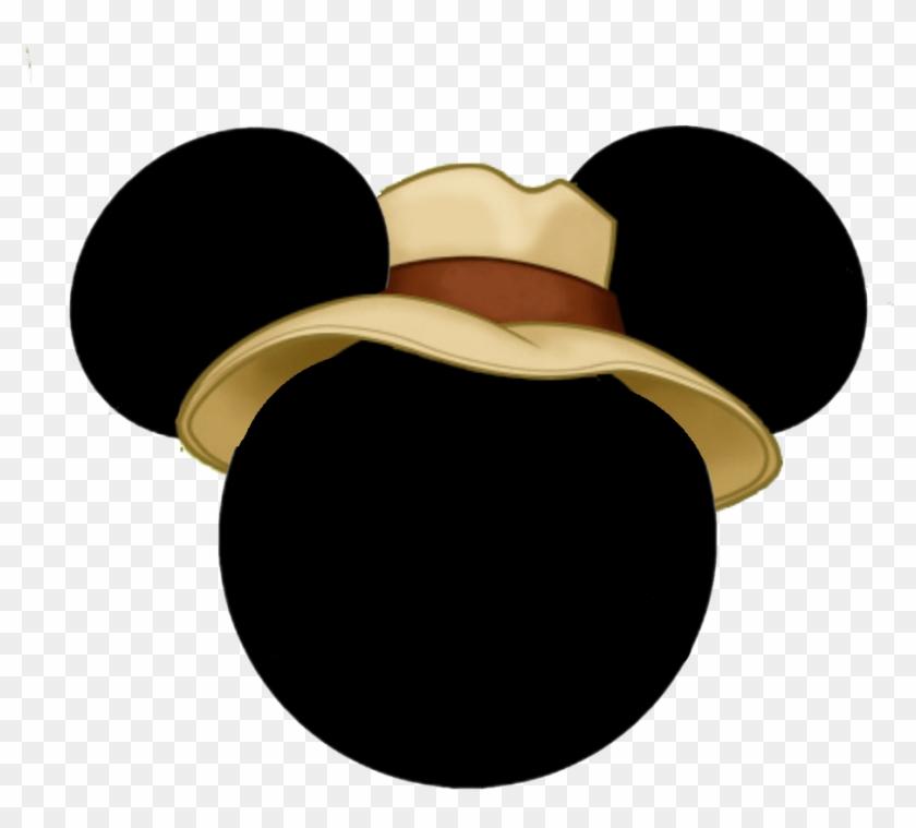 Safari Mickey Mouse Head - Cara De Mickey Safari Clipart ...