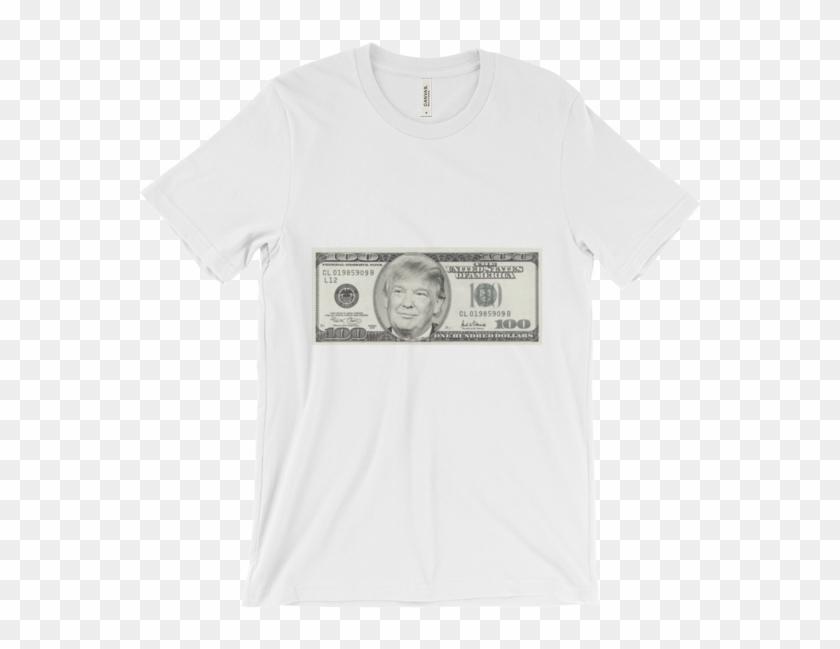 President Donald Trump 100 Dollar Bill Unisex Short - 100 Us Dollar Clipart #426956
