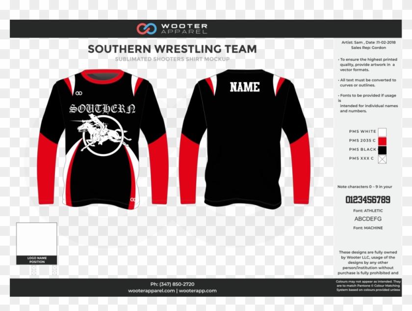 Southern Wrestling Shooting Shirt - Long-sleeved T-shirt Clipart #428558