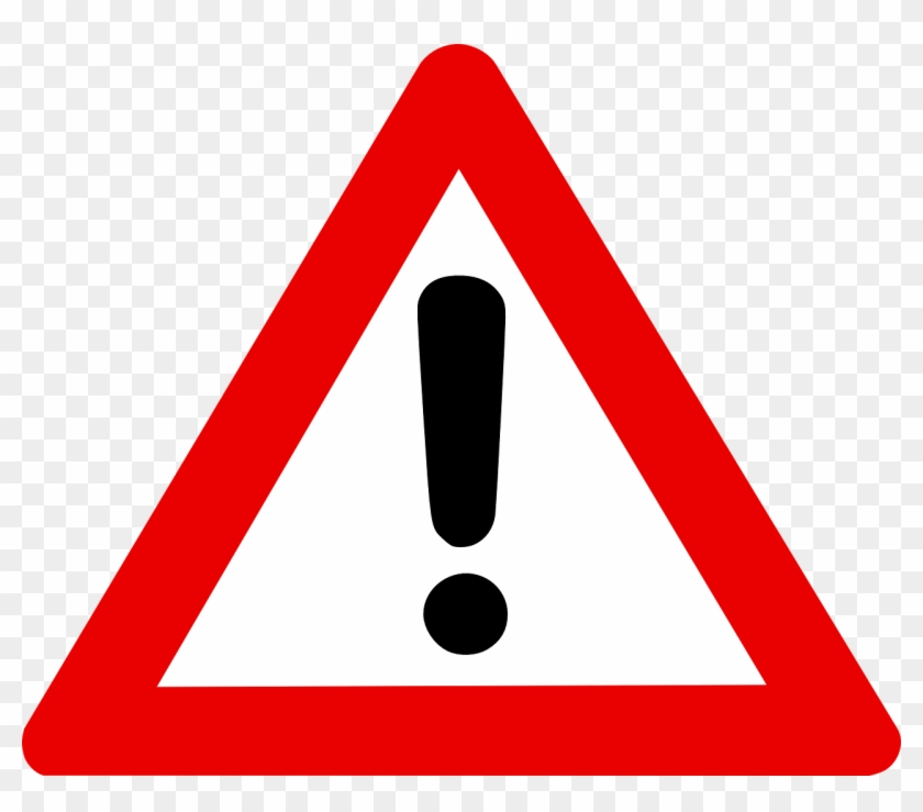 Warning Sign Exclamation Mark In Red Triangle Alert - Warning Sign Svg Clipart #429551