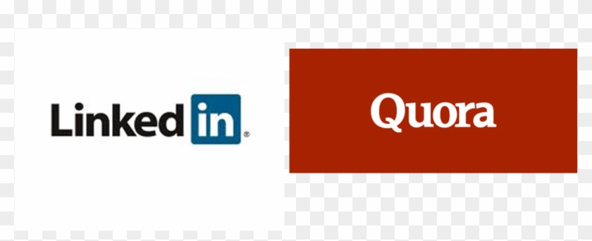 Quora And Linkedin Are Both Information Sharing Social - Quora Linkedin Clipart #4203443