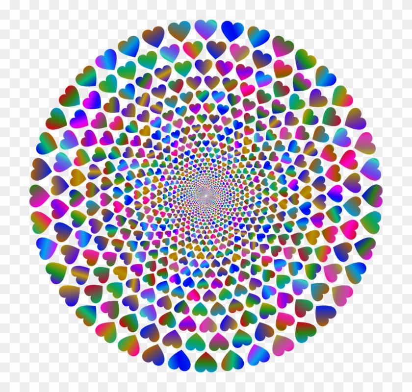 Colorful Prismatic Chromatic Rainbow Hearts Love - T-shirt Clipart #4207604