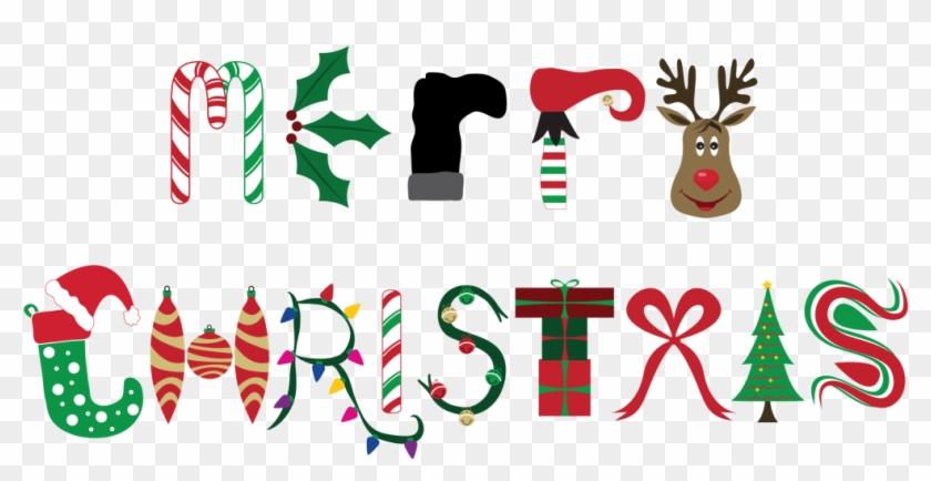 Christmas-merry - Christmas Decorations Word Art Clipart #4230226