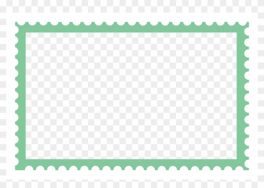Large Stamp Stamp Border Long Stamp Border Stamp - Stamp Border Png Clipart #4231669