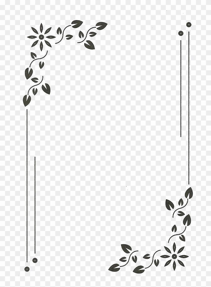 #monograma #moldura #quadro #flowers #flores @lucianoballack - Frame Simple Border Designs Clipart #4235106