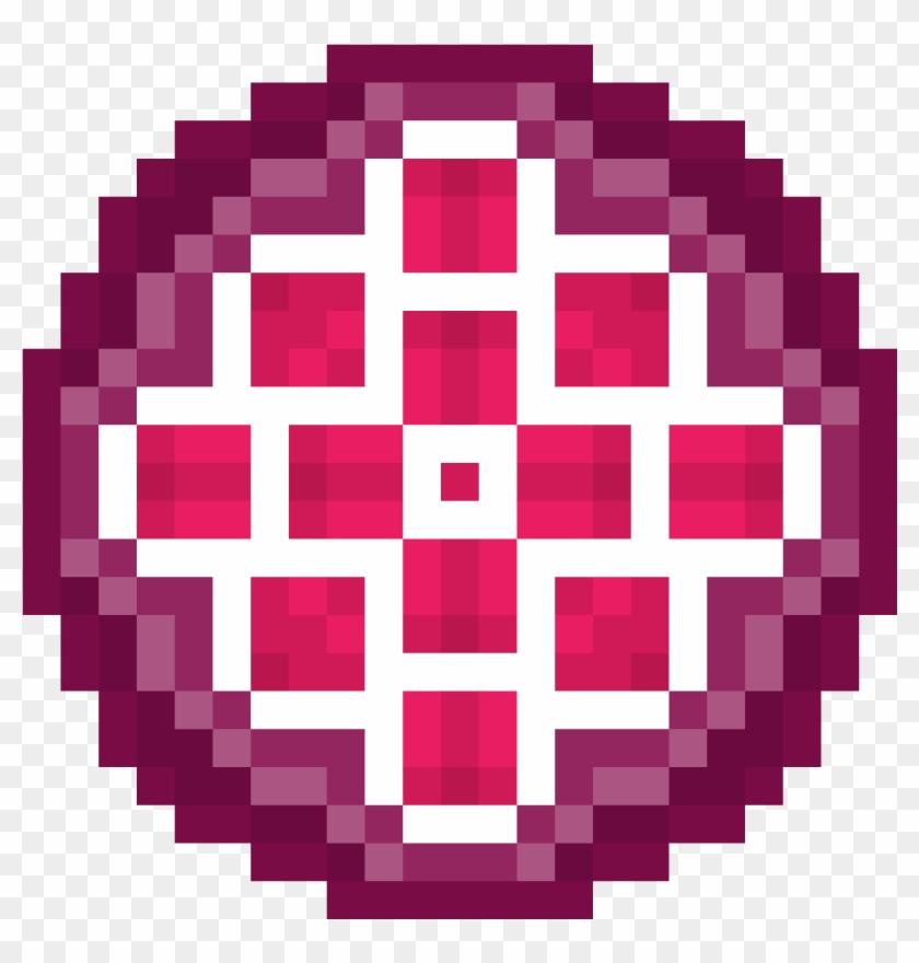 Purple And Pink Rosas Deadpool Logo Pixel Art Clipart