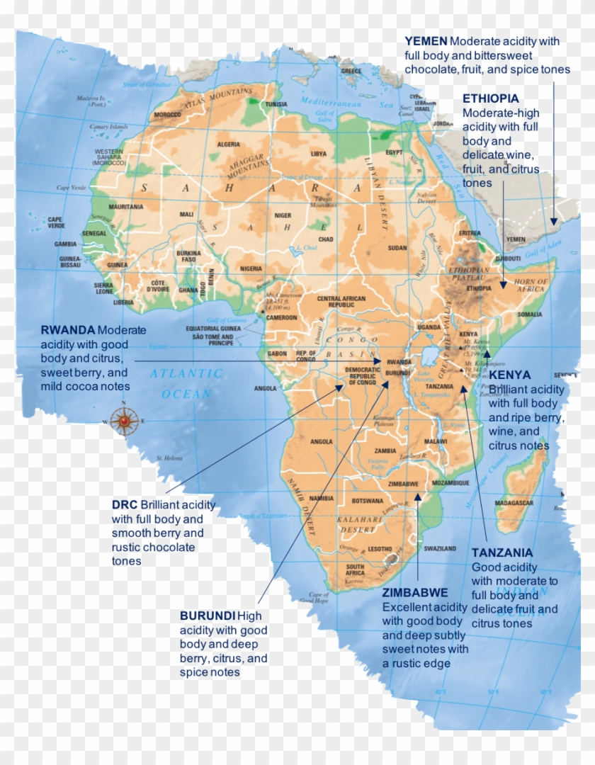 where is the serengeti plain on a map of africa Africa Largely Believed To Be The Birthplace Of Coffee where is the serengeti plain on a map of africa