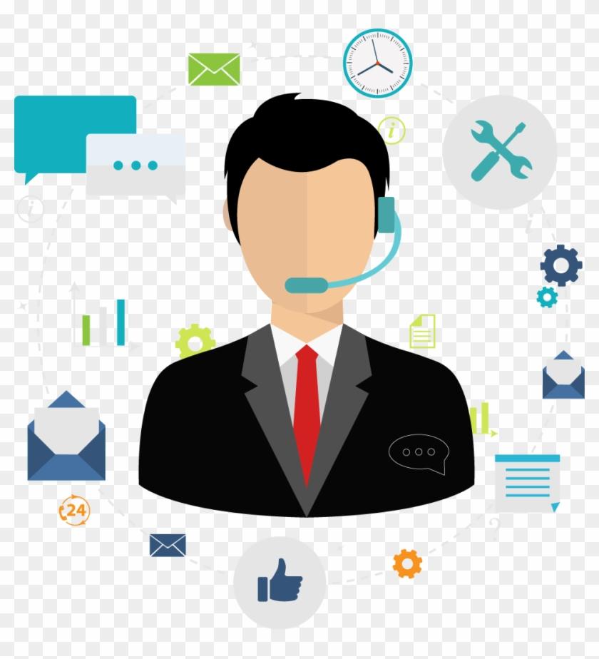 Help Desk / Professional Services - Live Chat Agent Clipart #4243717