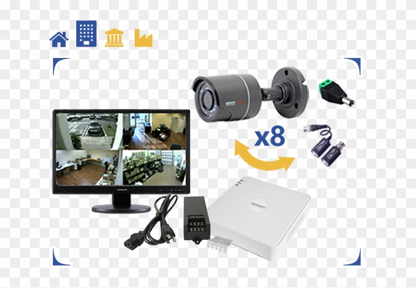 Camaras Seguridad 8 Canales - Computer Monitor Clipart #4247621