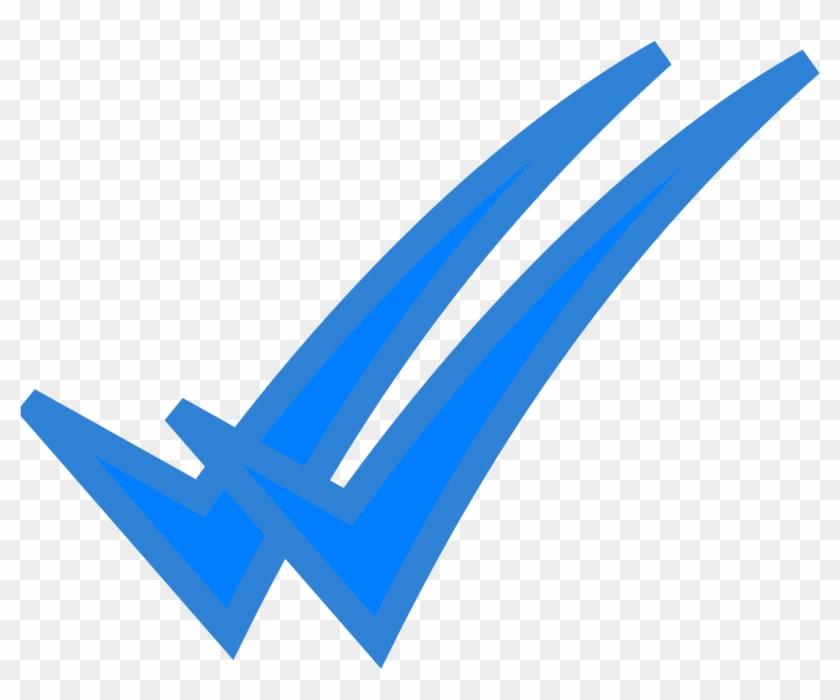 Blue Double Ticks - Whatsapp Blue Tick Png Clipart ...