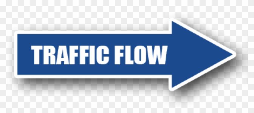 Floor Marking Blue Directional Arrow, Traffic Flow - Directional Arrows Clipart #4272717