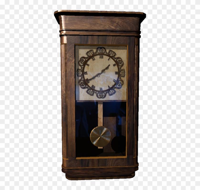 Antique Pendulum Wall Clock Png - Wall Clock Clipart #4276898