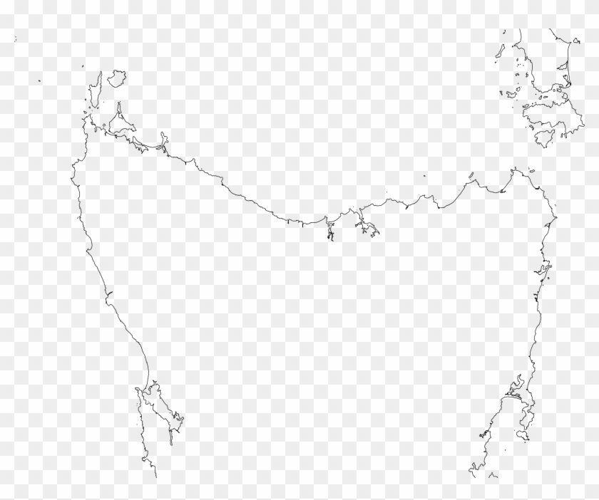 This Free Icons Png Design Of Tasmania Viewed From - Drawing Clipart #4281292
