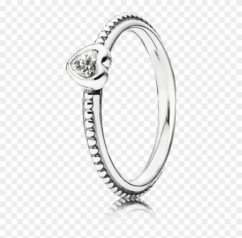 Clipart Freeuse Download One Love Cz Pandora Jewelry - Pandora Small Heart Ring - Png Download #4290755