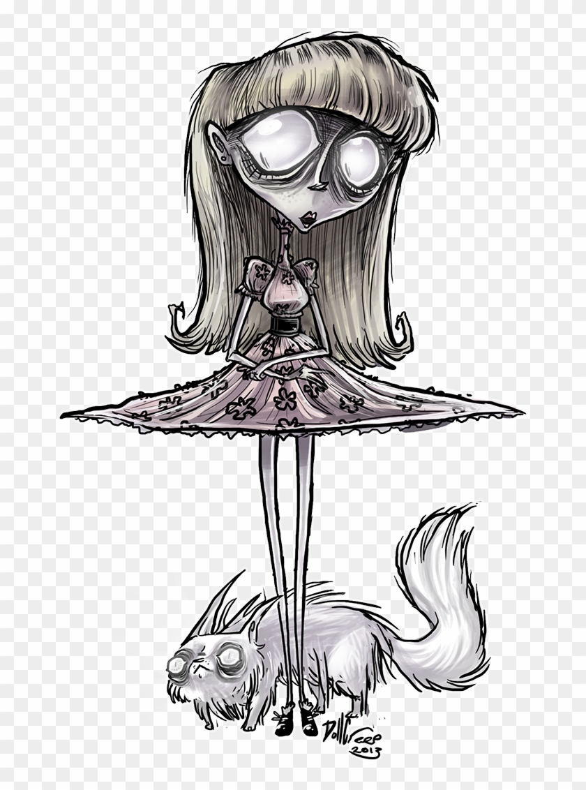 Weird Girl By Dollcreep Estilo Tim Burton Tim Burton Frankenweenie Weird Girl Drawing Clipart 4292357 Pikpng