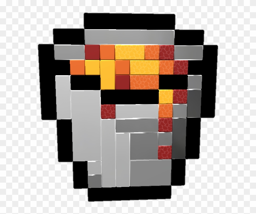 Pixelart Of Lava Bucket From Minecraft Wip Minecraft