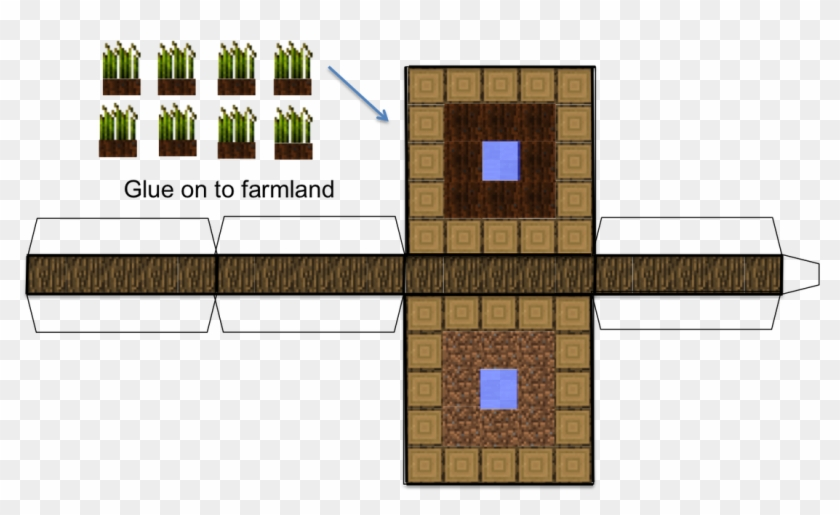 Minecraft Paper Wheat Farm Click To Enlarge This Image - Minecraft Papercraft Wheat Farm Clipart #4299097