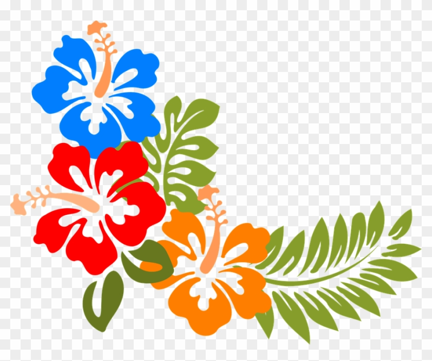 Hibiscus, Hawaii, Flowers, Tropical, Colorful, Spring - Tropical Clip Art - Png Download #430484