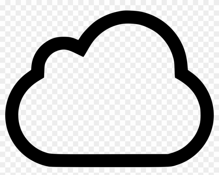 Cloud Outline Svg Png Icon Free Download 477096 Onlinewebfonts - Heart Clipart #430887
