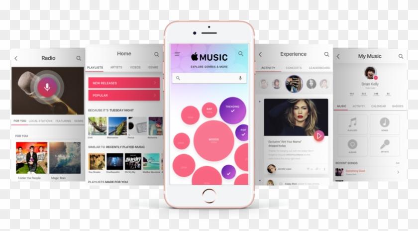 Apple Music App Showcase - Apple Music Ux Design Clipart #432635