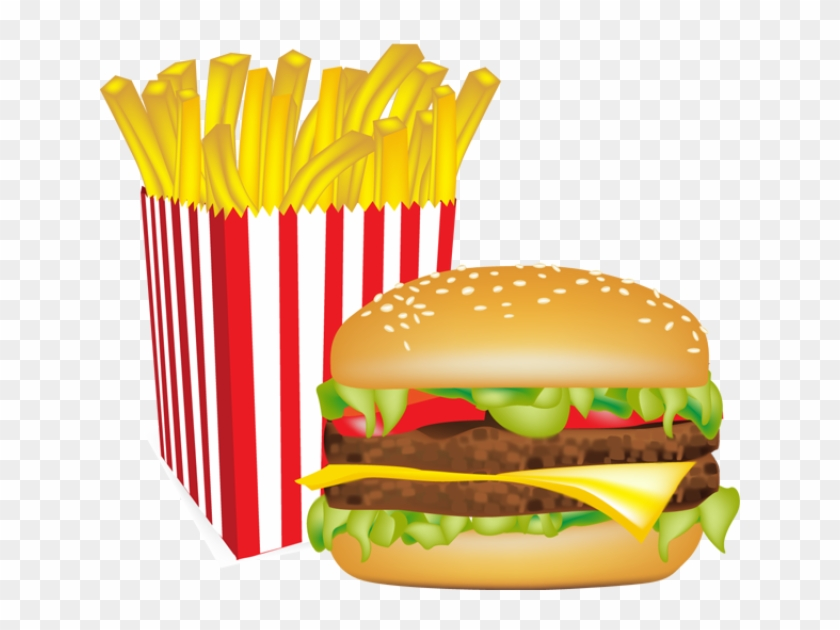 640 X 550 13 - French Fries And Burger Png Clipart #433847