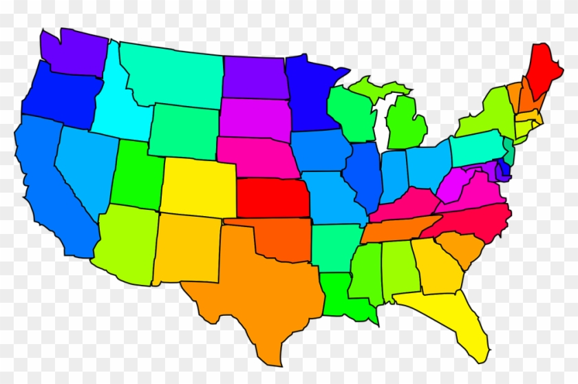 Us Map Clipart - United States Clipart - Png Download #436136