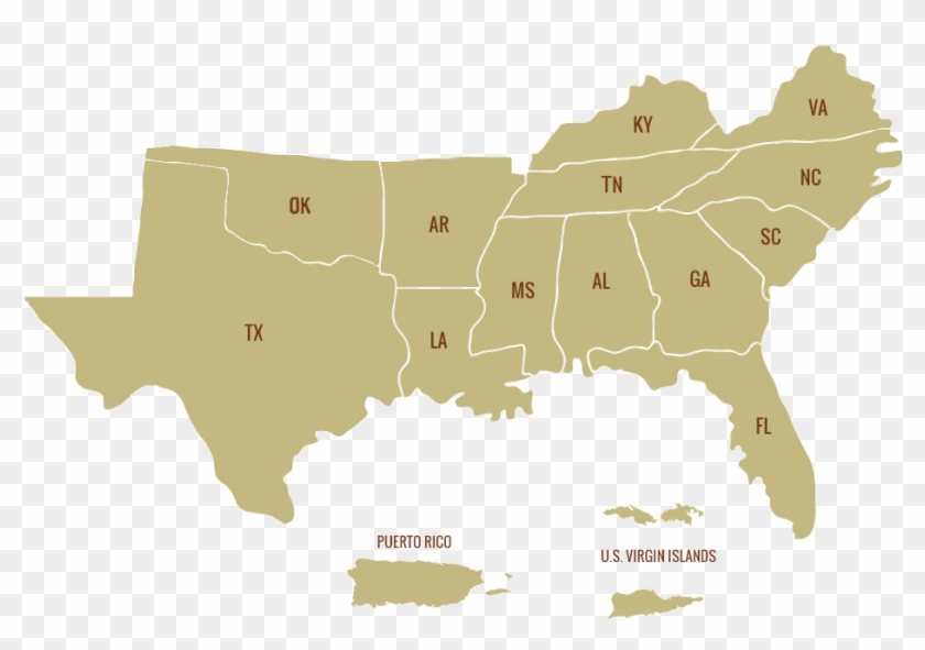 Map Southern States 636136231798973584 1979108747 Of - Do Hurricanes Occur In The Us Clipart #436239