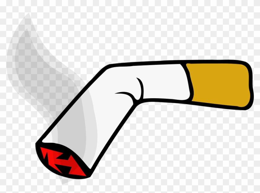 Tobacco Smoking Cigarette Tobacco Smoking - Clip Art Cigarette Smoke - Png Download #438555