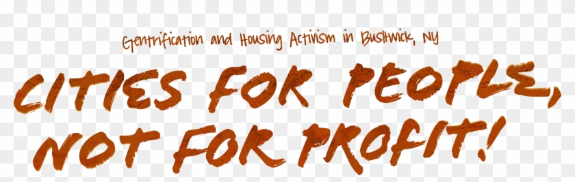 Cities For People, Not For Profit - Parallel Clipart #4304622