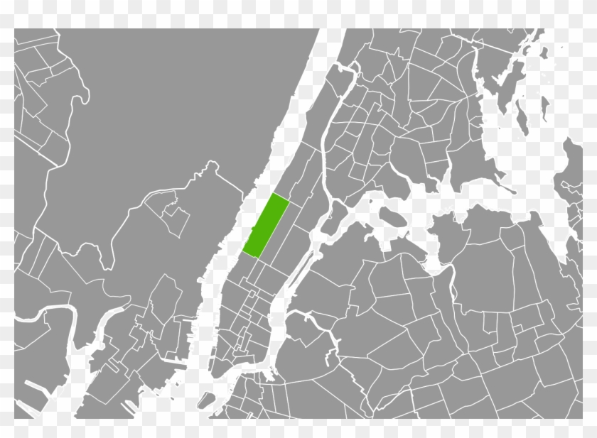 Map - New York City Map Silhouette Clipart #4320259