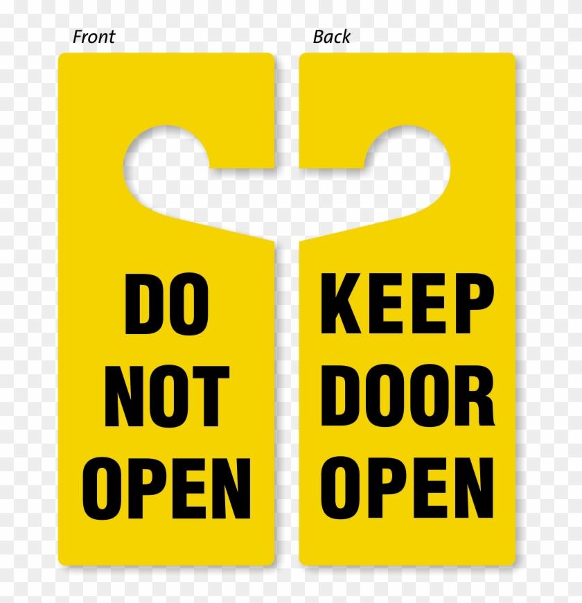 Do Not Open / Keep Open Door Hanger - Not Open Door Sign Clipart #4324703