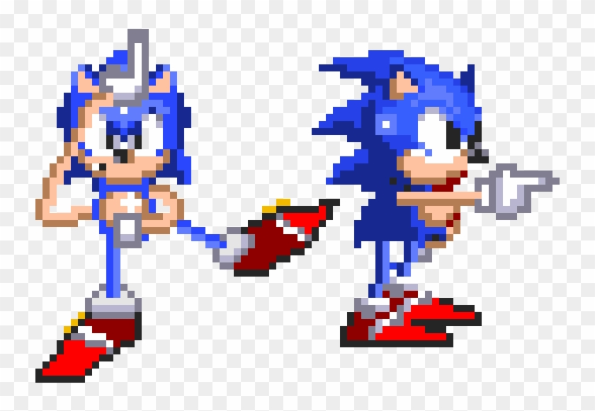 Sonic 2 Lake The L And Default Dance 16 Bit Sonic Gif Clipart 4326450 Pikpng