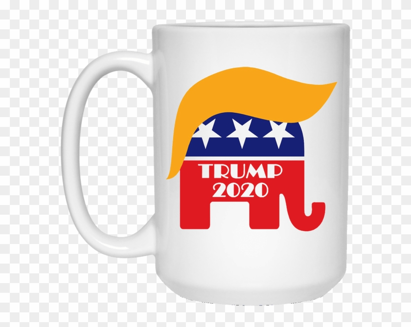 White Mug Re-elect President Trump 2020 Gop Elephant - Donald Trumps Hair Clip Art - Png Download #4326915