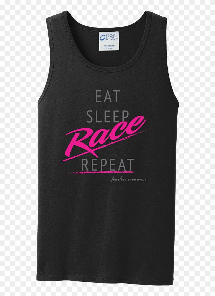 Eat, Sleep, Race, Repeat Tanks - Active Tank Clipart #4330594