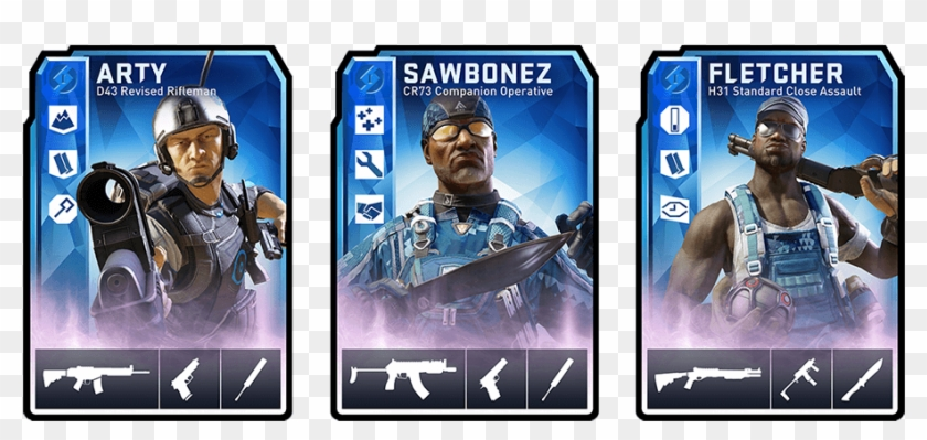 Cobalt Is Dirty Bomb's Latest Loadout Card Tier, Complete - Dirty Bomb Blue Card Clipart #4334280