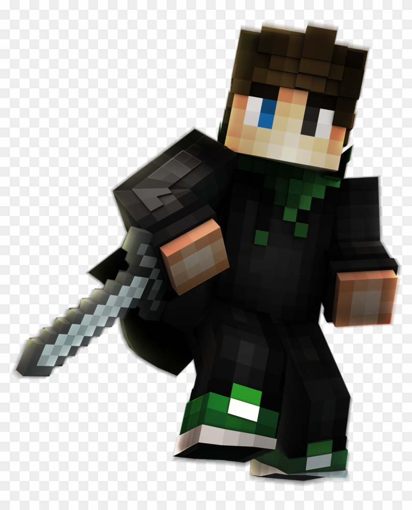 Minecraft Skin Pvp Png , Png Download - Minecraft Build Uhc