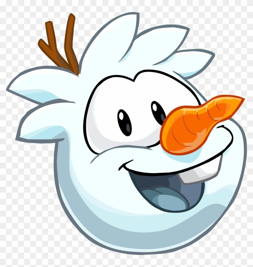 Snowman Puffle Club Penguin - Olaf De Club Penguin Clipart #4345628