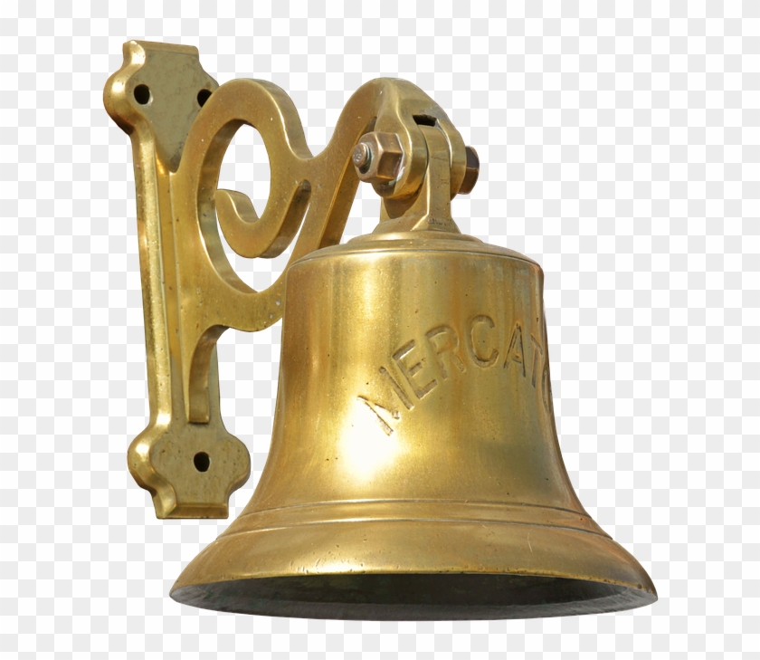 Ship Bell Bell Brass Seafaring Metallic Metal Old - Brass Clamps For Temple Bell Clipart #4348541