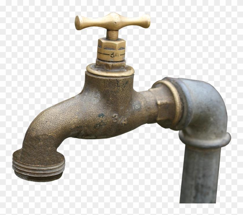Faucet, Brass, Tap, Brass Faucet, Old, Metal, Iron, - Faucet Brass Clipart #4348633